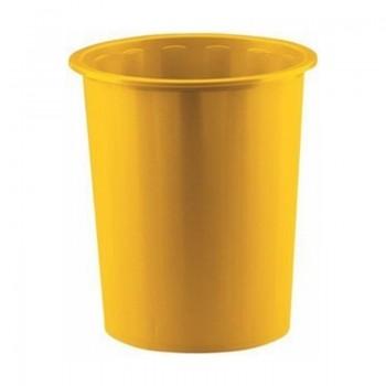 Papelera plástico 14l Faibo amarillo ESENCIALES
