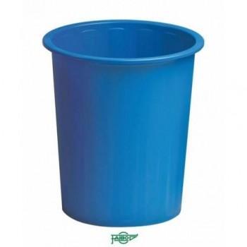 Papelera plástico 14l Faibo azul ESENCIALES