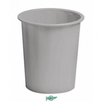 Papelera plástico 14l Faibo gris ESENCIALES