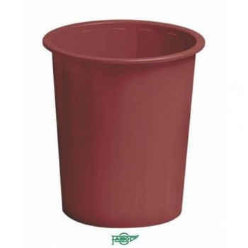 Papelera plástico 14l Faibo burdeos ESENCIALES