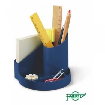 Cubilete de plastico 4 departamentos azul Faibo ESENCIALES