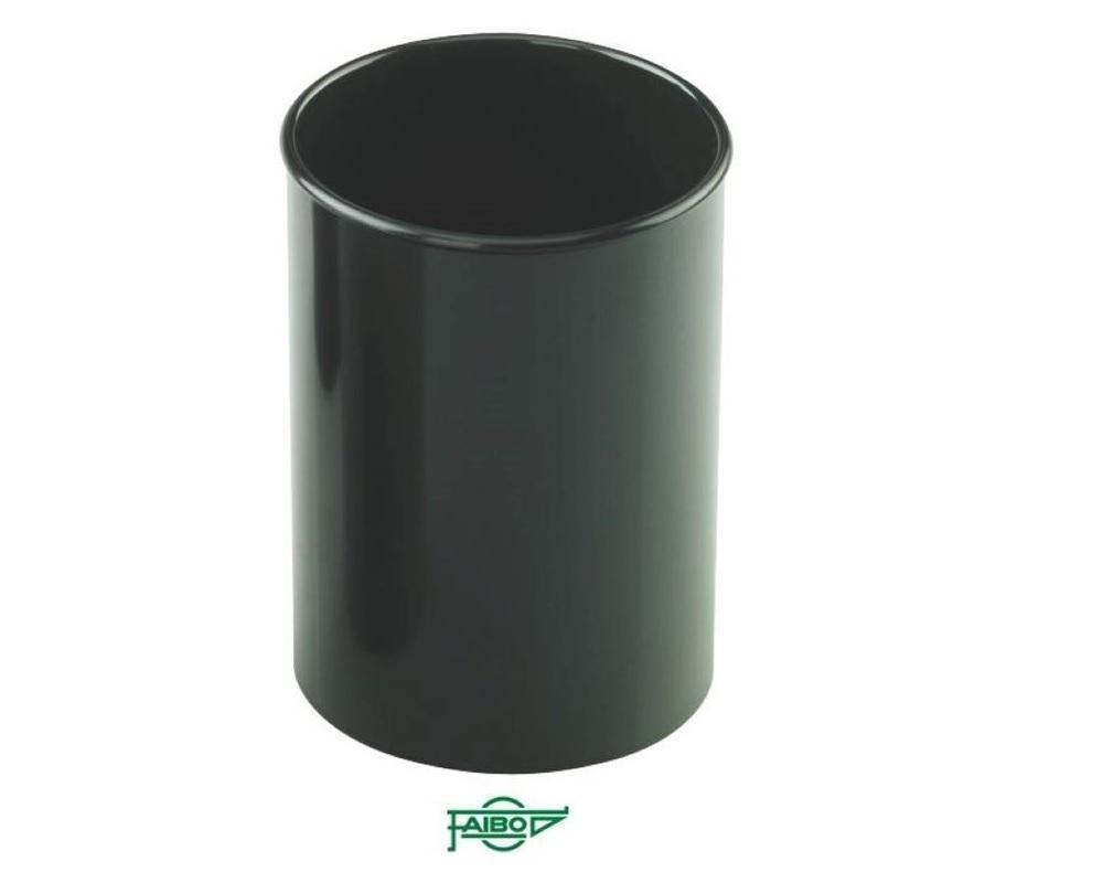 Cubilete  plástico  opaco negro  78mm 10cm alto Faibo ESENCIALES