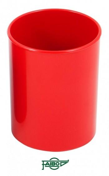 Cubilete  plástico  opaco rojo  78mm 10cm alto Faibo ESENCIALES