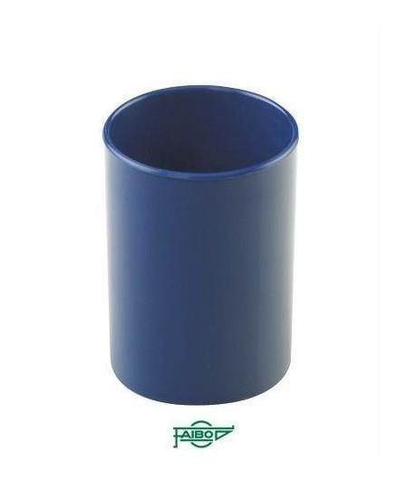 Cubilete  plástico  opaco azul  78mm 10cm alto Faibo ESENCIALES