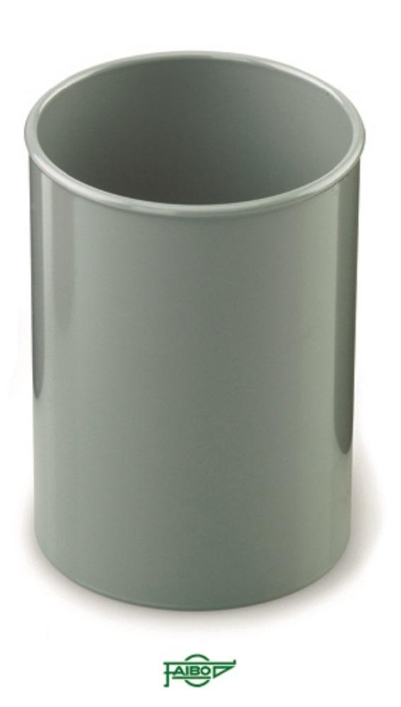Cubilete  plástico  opaco gris  78mm 10cm alto Faibo ESENCIALES