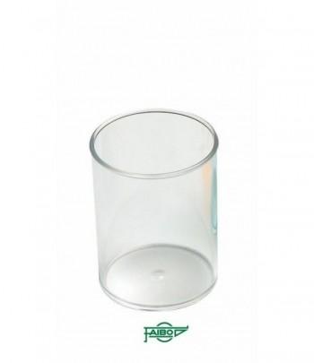 Cubilete  plástico  transparente cristal  78mm x 10cm Faibo ESENCIALES