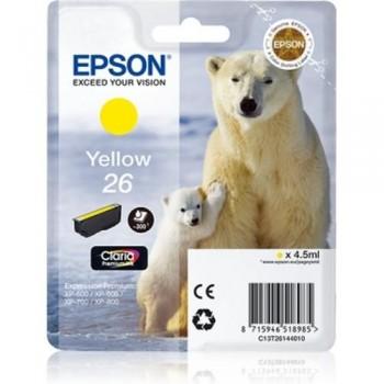EPSON CARTUCHO TINTA C13T26144010 Nº 26 AMARILLO