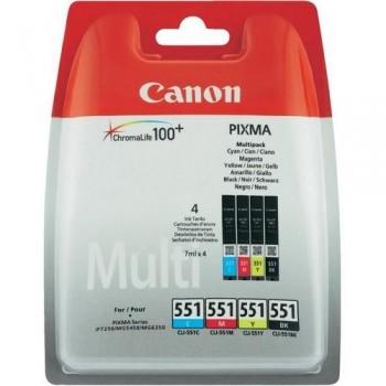 CANON CARTUCHO TINTA 6509B009 CLI-551BK/M/Y/C C/M/Y/BK