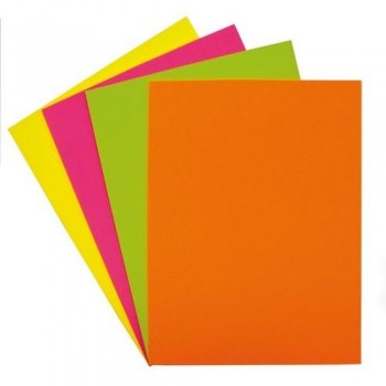 Papel color A4 75 gr 500 hojas fluor amarillo Fixo ESENCIALES