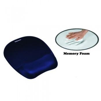 Reposamuñecas ratón Memory Foam azul Fellowes ESENCIALES
