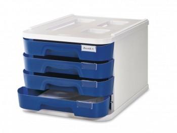 Módulo 4 cajones azul 28,5x37,5x23cm Faibo ESENCIALES