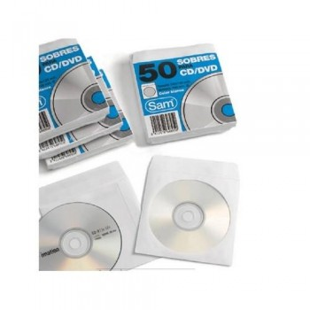 SOBRE BLANCO CD ADHESIVO 125X125 SAM 50U