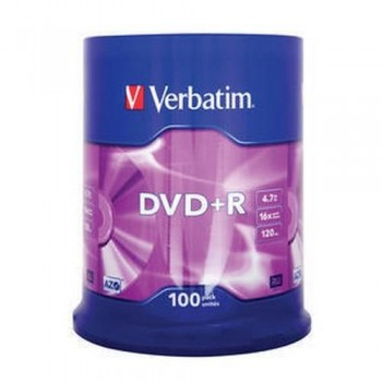 DVD +R 4.7GB 16X BOBINA 100 UNIDADES ADVANCED AZO VERBATIM