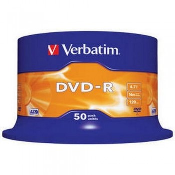 DVD -R 4.7GB 16X BOBINA 50 UNIDADES ADVANCED AZO VERBATIM