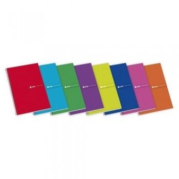 Cuaderno espiral tapas extra duras folio 100h cuadrícula 4mm surtido Status Enri ESENCIALES