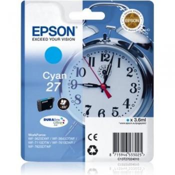 EPSON CARTUCHO TINTA C13T27024010 Nº 27 CIAN
