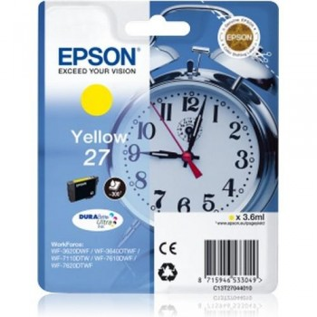 EPSON CARTUCHO TINTA C13T27044010 Nº 27 AMARILLO