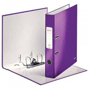 ARCHIVADOR A4 50MM VIOLETA METALIZADO WOW LEITZ