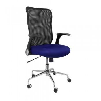 Silla oficina respaldo malla negro asiento azul OFI4031 ESENCIALES