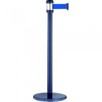Poste Separador Metalico Negro c/ Cordon Azul 2M ESENCIALES