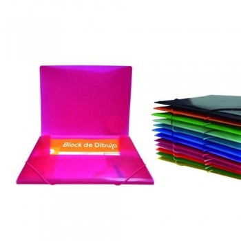 CARPETA GOMAS MAXI+ 3 SOLAPAS PP COLOR LINE OFFICE BOX