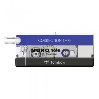 CINTA CORRECTORA PRECISIÓN 2.5 MM. X 4 M. NEGRO/AZUL MONO NOTE TOMBOW