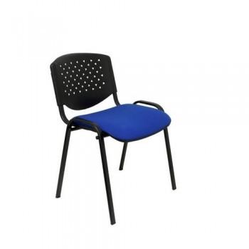 Silla confidente respaldo PVC y asiento tapizado azul, pack 4 un. Petrola Piqueras y Crespo ESENCIAL