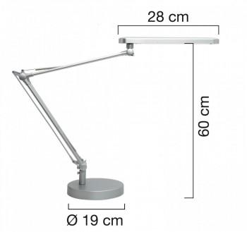 Lámpara de escritorio LED MAMBO GRIS METALIZADO ESENCIALES