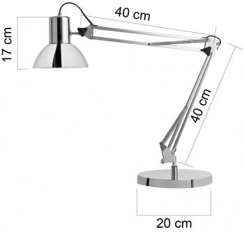 Lámpara de escritorio LED SUCCESS 80 CROMADO ESENCIALES