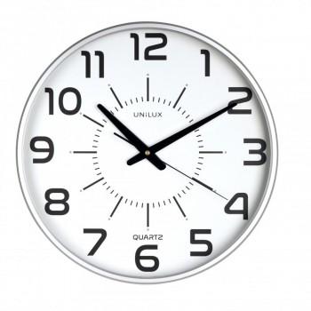 Reloj pared 37,5cm diámetro MAXI POP GRIS METALIZADO ESENCIALES