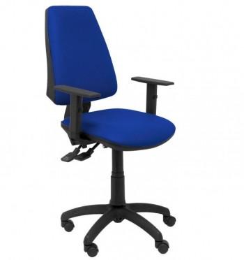 Silla oficina Elche CP brazos regulables bali color azul ESENCIALES