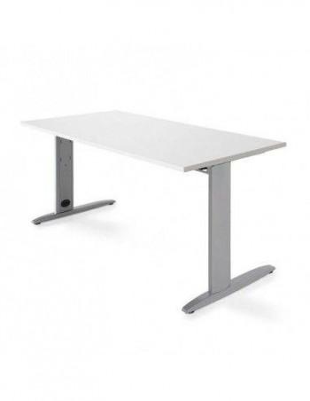 Tablero para mesa regulable en altura Levado  Blanco 140x80cm ESENCIALES