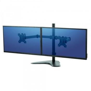 Soporte con peana para monitor doble en horizontal Professional Series ESENCIALES