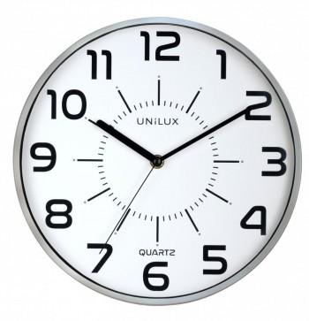 Reloj pared 28cm diámetro POP GRIS METALIZADO ESENCIALES