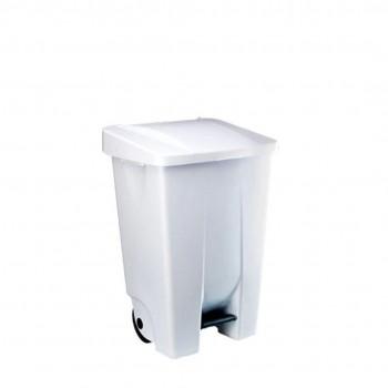 Contenedor de pedal plástico de 70 x 38 x 49 cm, 60 litros ESENCIALES