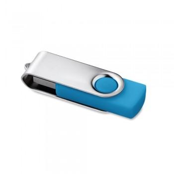 Memoria USB 16 Gb. Rotativo turquesa ESENCIALES