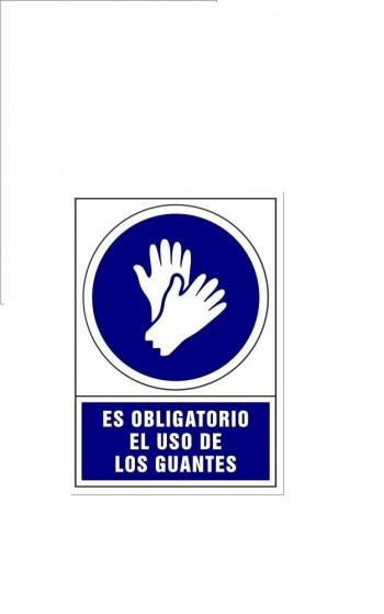 Placa PVC de obligación Uso guantes ESENCIALES