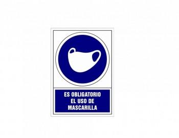 Placa PVC de obligación Uso mascarilla ESENCIALES