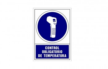 Placa PVC de obligación Control de temperatura ESENCIALES