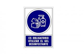 Placa PVC de obligación Uso gel ESENCIALES