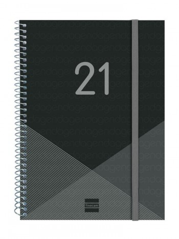 Agenda espiral S/V E10 155x215mm Year negro castellano Finocam ESENCIALES