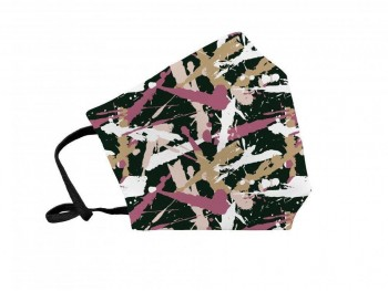 Mascarilla reutilizable tela Fuli SAFARI pink Talla M 20x12cm