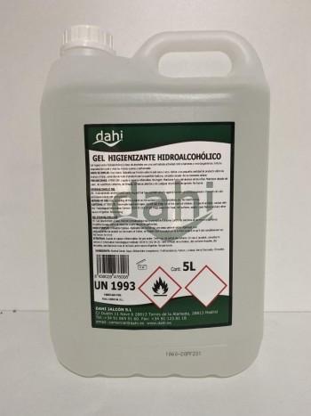 Gel hidroalcohólico 5l garrafa