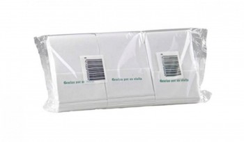 Servilleta reciclada mini 1 capa 17x17 400 un. caja 35 paquetes