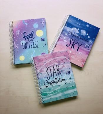Cuaderno Europeanbook 4 Galactic Pastel A5+ 120 Hojas 5x5