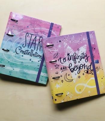 Cuaderno Europeanbinder Galactic Pastel A4+ con recambio 100 Hojas 5x5 colores pastel