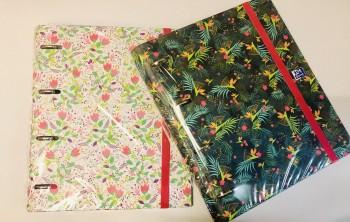 Cuaderno Europeanbinder Blossom A4+ con recambio 100 Hojas 5x5 colores vivos